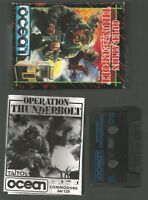 OPERATION THUNDERBOLT - Ocean - Boxed COMMODORE 64 C64 CASSETTE GAME - Tested