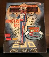 Richard Petty's Last Ride 1992 Hooters 500 Program Autographed by many!