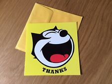 FELIX THE CAT THANKS THANK YOU GREETINGS CARD NEW WITH ENVELOPE RARE COLLECTABLE