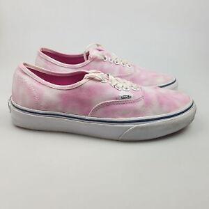 Women's VANS Sz 8 US Shoes Pink White VGCon Skate Tye Dye | 3+ Extra 10% Off