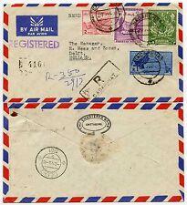 PAKISTAN REGISTERED AIRMAIL SADARGHAT HANDSTAMP 1961 to HOLLAND