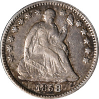 1858-P Seated Liberty Half Dime - Over Inverted Date Great Deals From The Execut