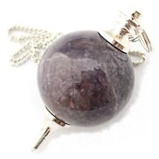 Améthyste radiesthésie pendule boule sphère cristal scrying radiesthesia shew stone