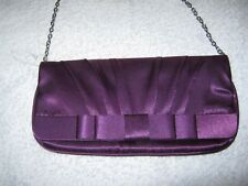 LADIES GIRLS CLAIRE'S ACCESSORIES PURPLE CLUTCH BAG METAL CHAIN BRAND NEW UNUSED