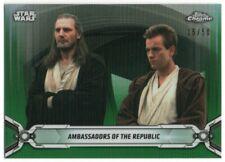 2019 Star Wars Chrome Legacy Green Refractor 1 Obi-Wan Kenobi Qui-Gon Jinn 15/50