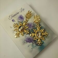 VINTAGE VICTORIAN COCKTAIL MARIE ANTOINETTE GOTHIC EDWARDIAN STYLE EARRINGS