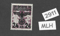 MLH stamp 24 Gr 1940 Overprint 3rd Reich Germany General Government Poland WWII