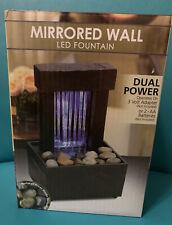 mirrored wall mini led fountain