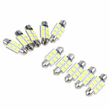 10pcs 36mm 6SMD 5050 White Car Festoon Dome Map LED Light License Plate Bulbs