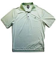 Footjoy Men's Polo Green Striped Size Medium ACC logo