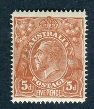 Australia 1914-20. 5d brown. MNH. w5. SG 23.