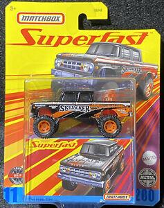 2021 Matchbox Superfast 1968 Dodge D200 Skyjacker