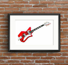 Jack White's Airline JB Hutto guitar POSTER PRINT A1 size