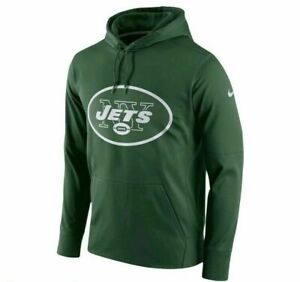 $75 NWT Nike New York Jets Performance Circuit Logo Hoodie Therma Fit LARGE L