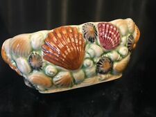 Vintage SYLVAC - Oval posy vase, shell embossed on all sides. .Ref  4178