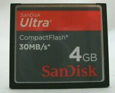 4GB SANDISK ULTRA 30MB/S COMPACTFLASH CF COMPACT FLASH MEMORY CARD 4 GB