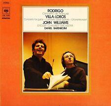 CBS 76369 JOHN WILLIAMS/BARENBOIM/ECO rodrigo/villa lobos guitar LP PS EX/EX
