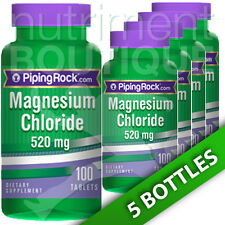Magnesium Chloride 520 mg 5X100 Tabs by Piping Rock