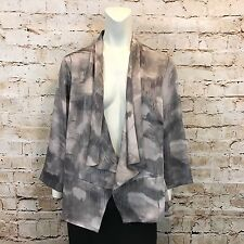 Coldwater Creek Womens Medium 10/12 Lilac Gray Waterfall Jacket Open Front NWT