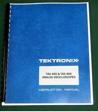 Tektronix TAS 455 & TAS 465 Instruction Manual: Comb Bound & Protective Covers