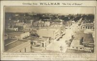 Willmar MN Birdseye View c1910 Real Photo Postcard