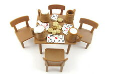 Playmobil~Western~Table~Chairs~Beer Mugs~Saloon~Poker Playing Cards~Gold Coins