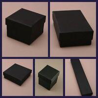 Black Jewellery Gift Box Ring Necklace Holder Watch Case Organizer Storage Boxes