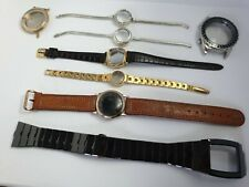 Job Lot Of 8 Assorted Mens & Ladies Watch Cases & Straps For Spares