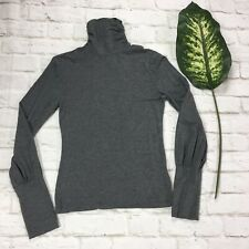 Attention Women's Size XS Grey Turtle Neck Knit Top Pullover Long Sleeve Stretch