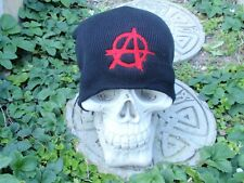 anarchy embroided beanie misfits punk rock dead kennedys bad religion ramones