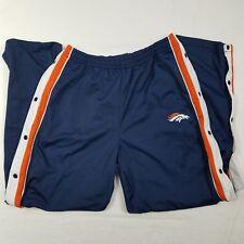 Denver Broncos Tear Away Pants NFL Licensed Size XL Game Day Turbo Zone