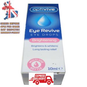 Eye Revive Eye Drops Optivive  Brightens & Whitens. Long Lasting Relief 10 ml
