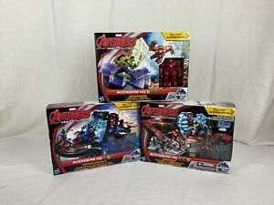 New Marvel Avengers HQ Age Of Ultron 1, 2, 3 Tower Play Set Lot of 3