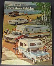 1980 Ford RV Brochure F-Series Pickup Truck F-150 4x4 Bronco Econoline Van LTD