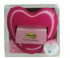 Post It Pop Up Notes Dispenser For 3 X 3 Inch Notes Pink Heart Shape