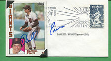 Signed Giants Darrell Evans Baseball Card /Cover 1984 Detroit Tigers - B0791