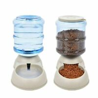 Large Dog Food Dispenser Automatic Cat Feeder Drinker Water Pet Bowl Dish Kitty