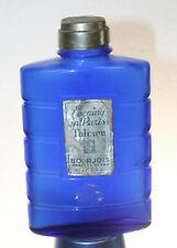 Vintage Evening In Paris Talcum Powder Cobalt Blue glass shaker bottle slidecap