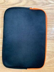 Boots N 7 black orange laptop sleeve case EVA & Polyester 15 inch diagonally