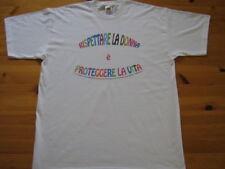 t-shirt rispettare la donna è proteggere la vita fruit of the loom unisex maglia