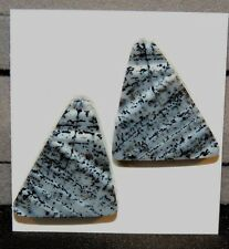 Dendritic Opal Pair of Cabochons 25x22mm (8215)