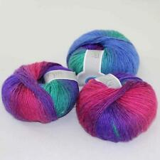 Sale New Soft Cashmere Wool Rainbow Wrap Shawl DIY Hand Knit Yarn 3ballsx50gr 14