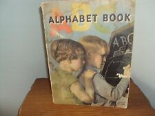 Antique Alphabet Picuture Book With Linen Finish