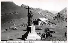 CORDILLERA DE LOS ANDES, CHILE, CRISTO REDENTOR, REAL PHOTO PC c. 1930-1940's