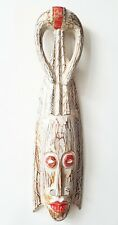 Wooden Tribal Mask Hand Carved Ethnic Wall Mask 50cm Decor Gift