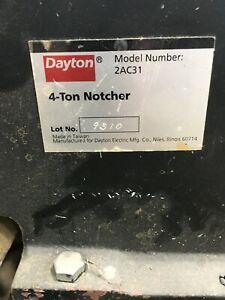 Dayton 4 Ton Hand Corner Notcher              Sheet Metal Fab Shop Tool