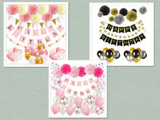 Birthday Decorations Baby Shower Party Supplies Set for Kids Girls Adult