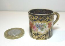 DELIGHTFUL ANTIQUE MINIATURE CROWN STAFFORDSHIRE CUP EARLY 1900'S