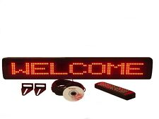 "Indoor RED LED Programmable Scrolling Message Display Sign 26""x4"" NEW"