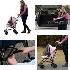 """Premium Ultra Lite 38"""" Tall Pet Travel Stroller Compact Large Wheels Lightweight"""